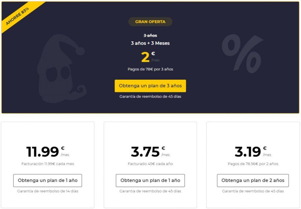 cyber ghost vpn precios