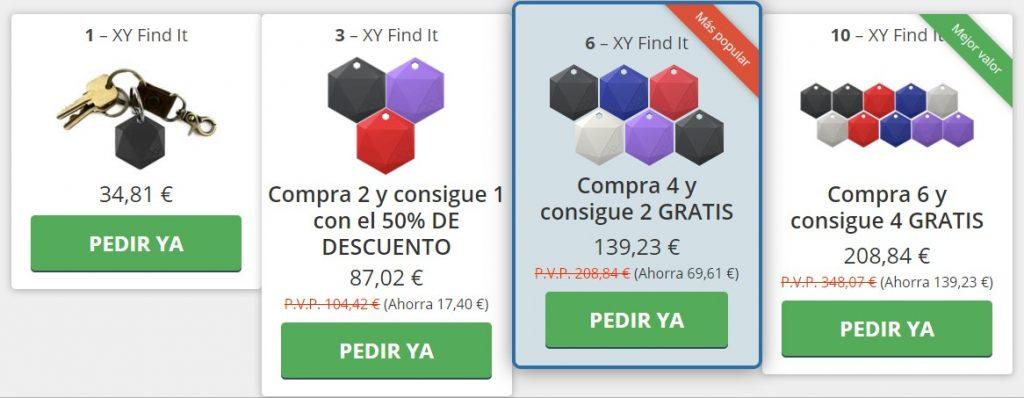 Precio XY finder