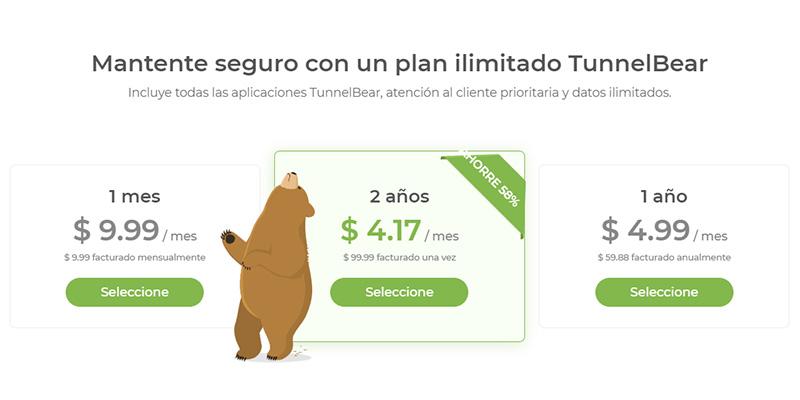tunnel-bear-precios