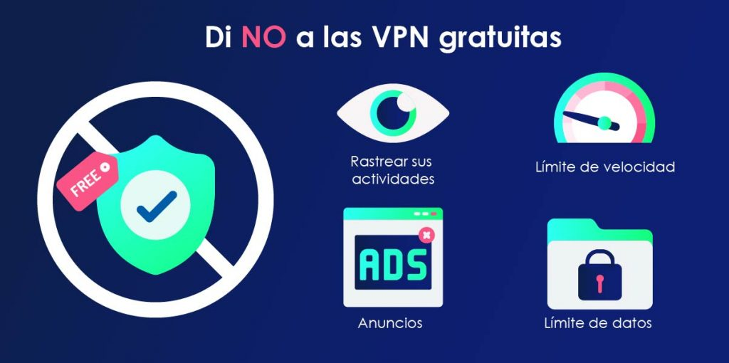 Evita VPNs gratuitas