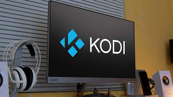 pantalla con logo kodi
