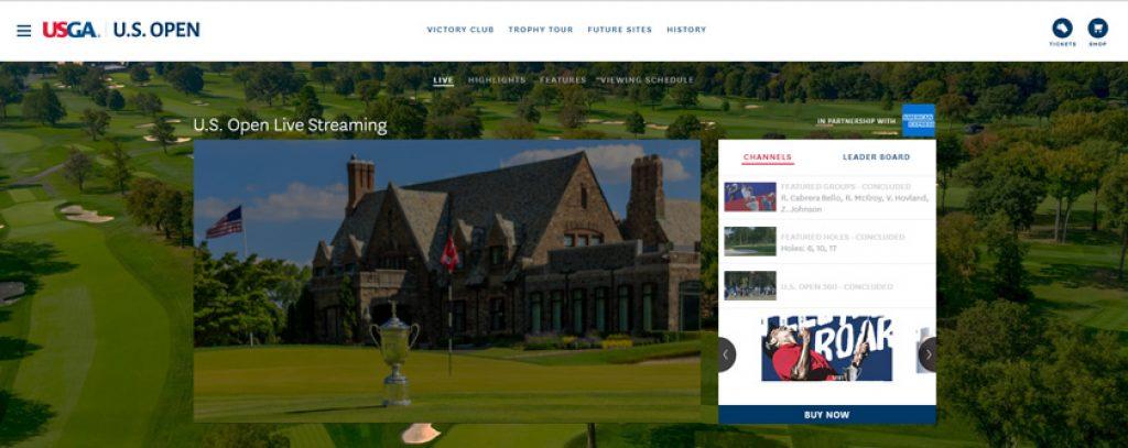 ver us open golf en directo gratis